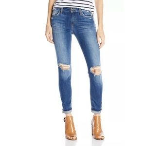 JOE'S JEANS IRISA SLIM CROPPED DISTRESSED JEANS 32